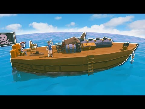 Ylands - STEAM ENGINE SHIP VOYAGE! - Ylands Multiplayer Gameplay & Ship Sailing