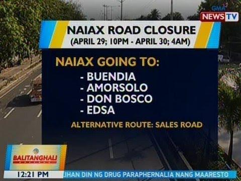 BT: NAIAX road closure advisory