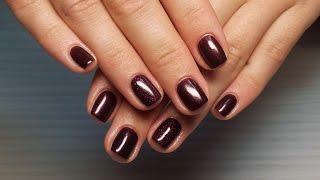 Дизайн ногтей гель-лак Shellac - Дизайн ногтей блестками (уроки дизайна ногтей)