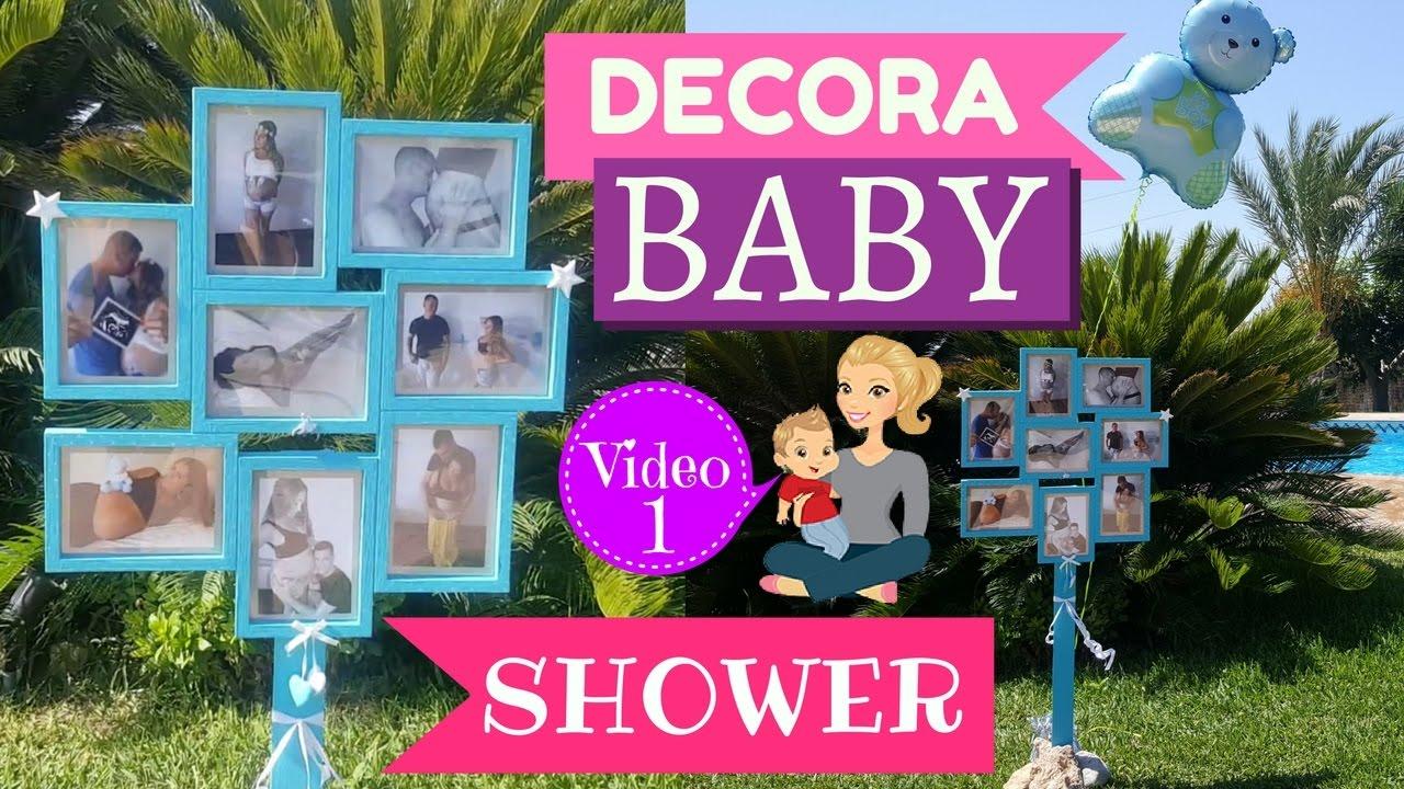ideas para decorar baby shower marco de fotos paso a paso