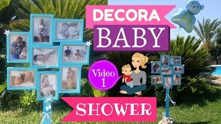 IDEAS PARA DECORAR BABY SHOWER - MARCO DE FOTOS PASO A PASO