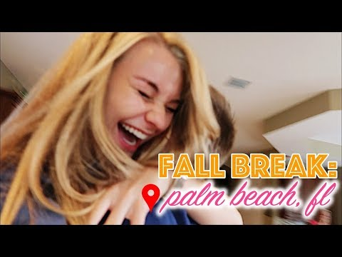week in my life: palm beach, fl | coming home for fall break | university of alabama