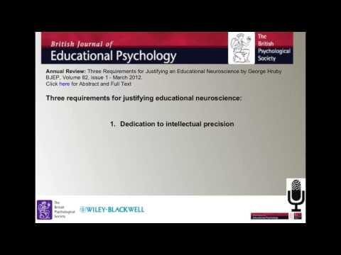 The British Journal of Educational Psychology 2013 Annual Review Podcast