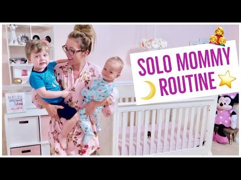 NIGHT TIME ROUTINE OF A MOM 2018 ⭐️👩‍👧‍👦🌙  | SOLO BEDTIME ROUTINE BABY + TODDLER | SUMMER
