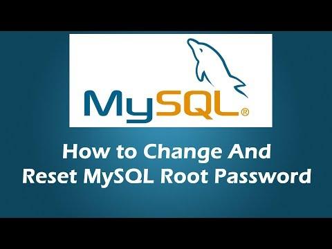 Change mysql root password windows command line