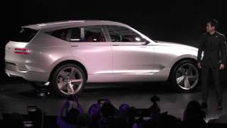 제네시스 첫 SUV 'GV80 콘셉트' 공개 현장