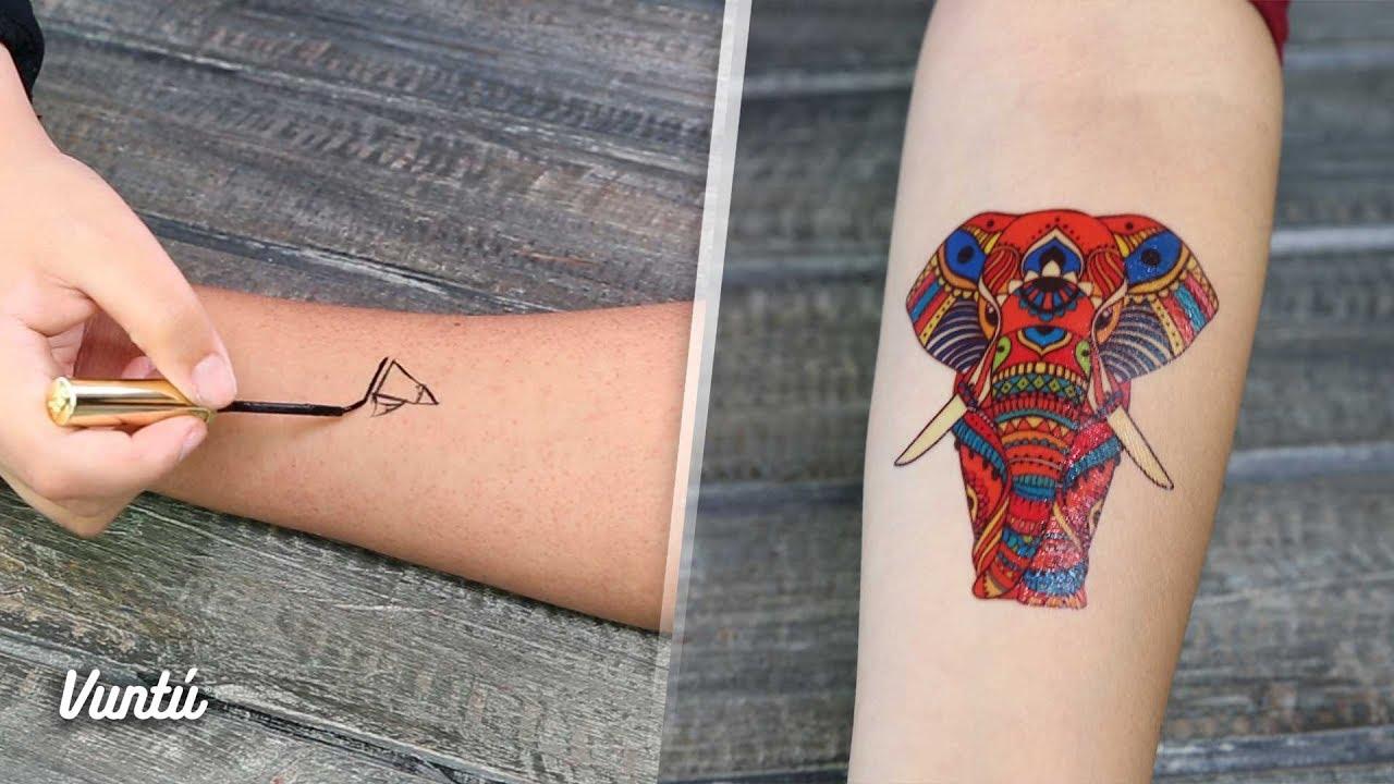 Tatuajes Temporales Badabun mira cómo hacerte un tatuaje temporal - youtube