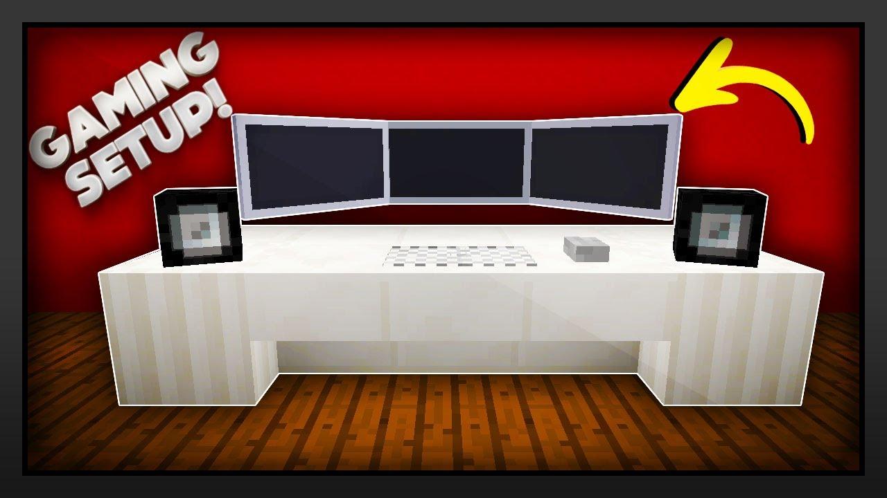 Gaming Setup minecraft - how to make a gaming setup - youtube