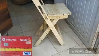Silla plegable .. de tarimas PALLETS