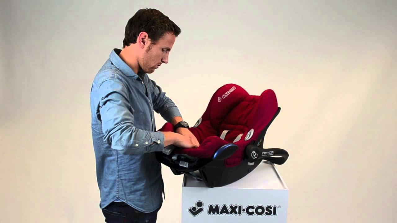 Maxi Cosi Cabriofix How To Put The Cover On Youtube