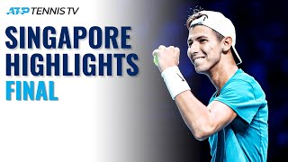 Alexander Bublik vs Alexei Popyrin for the Title | Singapore 2021 Final Highlights