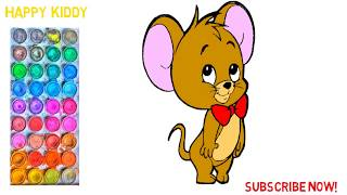 Learn to drawing and coloring cartoons for kids, រៀនគូររូបតុក្កតា និងផាត់ពណ៌សំរាប់កុមារ 23