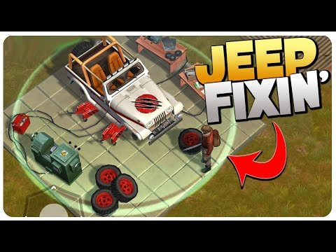 JEEP Blueprint DONE, Clones Escape My Prison! - Jurassic Survival Gameplay Android