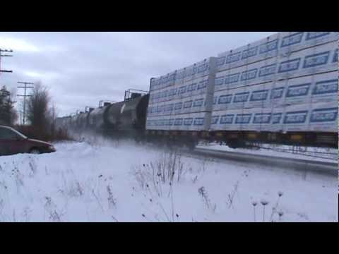 Railfanning Cardinal Ontario - January 7 2010