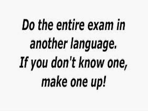 Funny Things To Do In An Exam Funny Facebook Statuses
