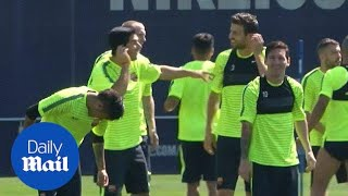 Messi, Neymar and Suarez prepare for Champions League final - Daily Mail