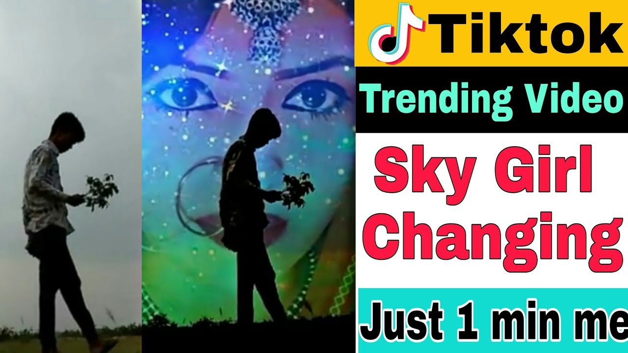 Repeat Sky Girl Background Video | Tiktok sky changing tutorial