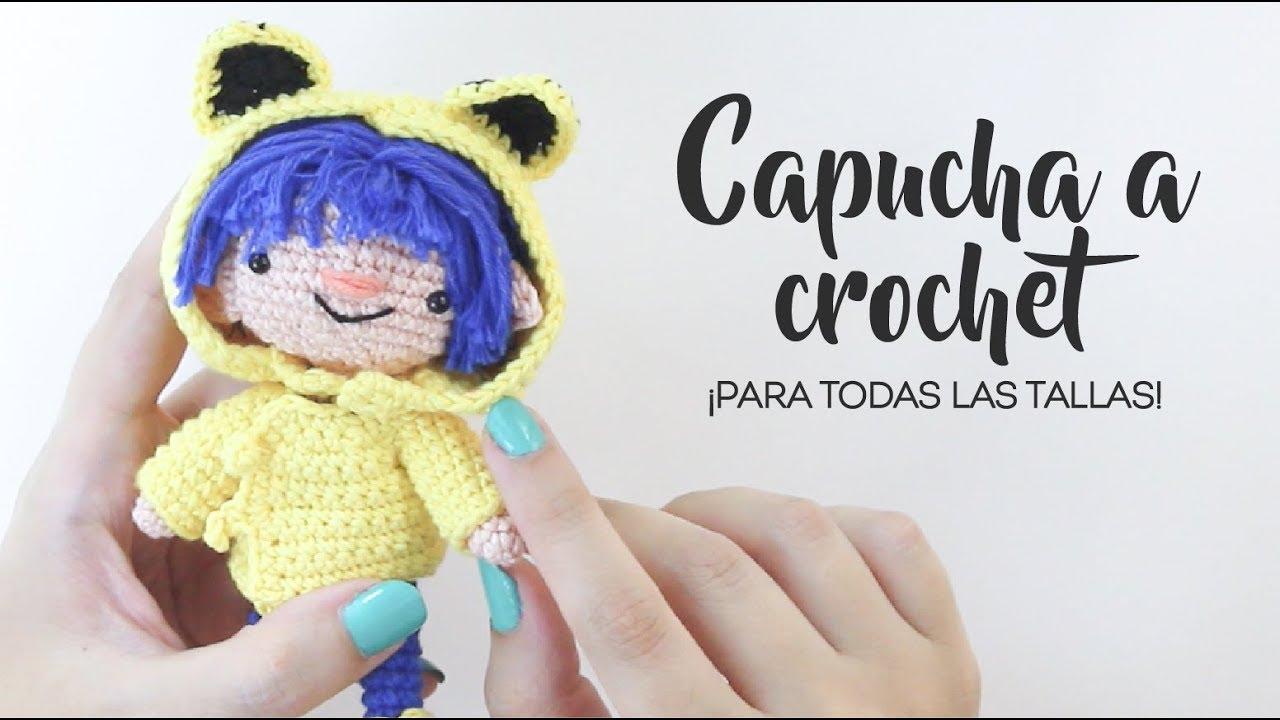 Cómo hacer una capucha a crochet - ¡Todas las tallas! - YouTube