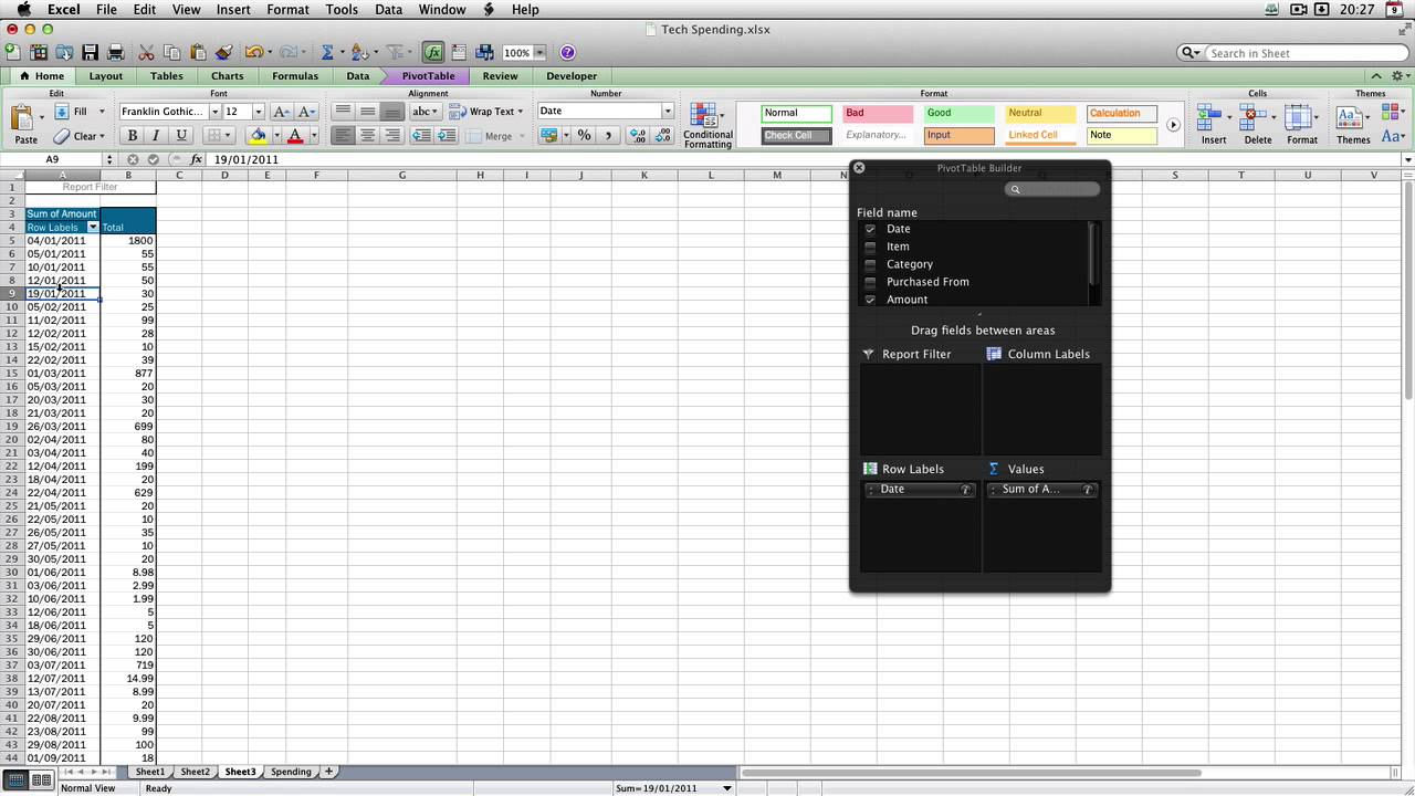 Excel : How to Group Data By Month and Day in a Pivot Table