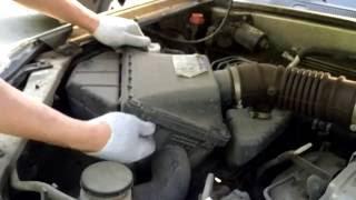 Great Wall Hover (Грейт Волл Ховер) Замена воздушного фильтра двигателя