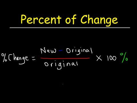Percent of Change Increase and Decrease Formula, Word Problems, 7th Grade