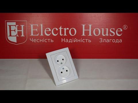 Обзор двойной розетки без заземления серии Enzo ElectroHouse