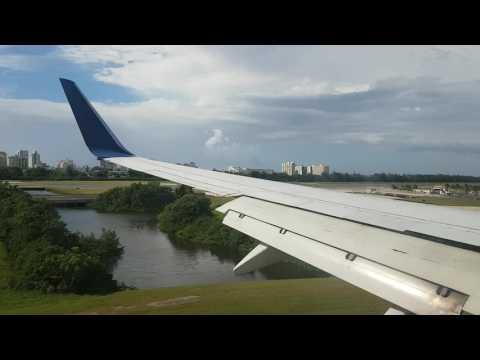 Landing in San Juan International Airport - Puerto Rico - SJU