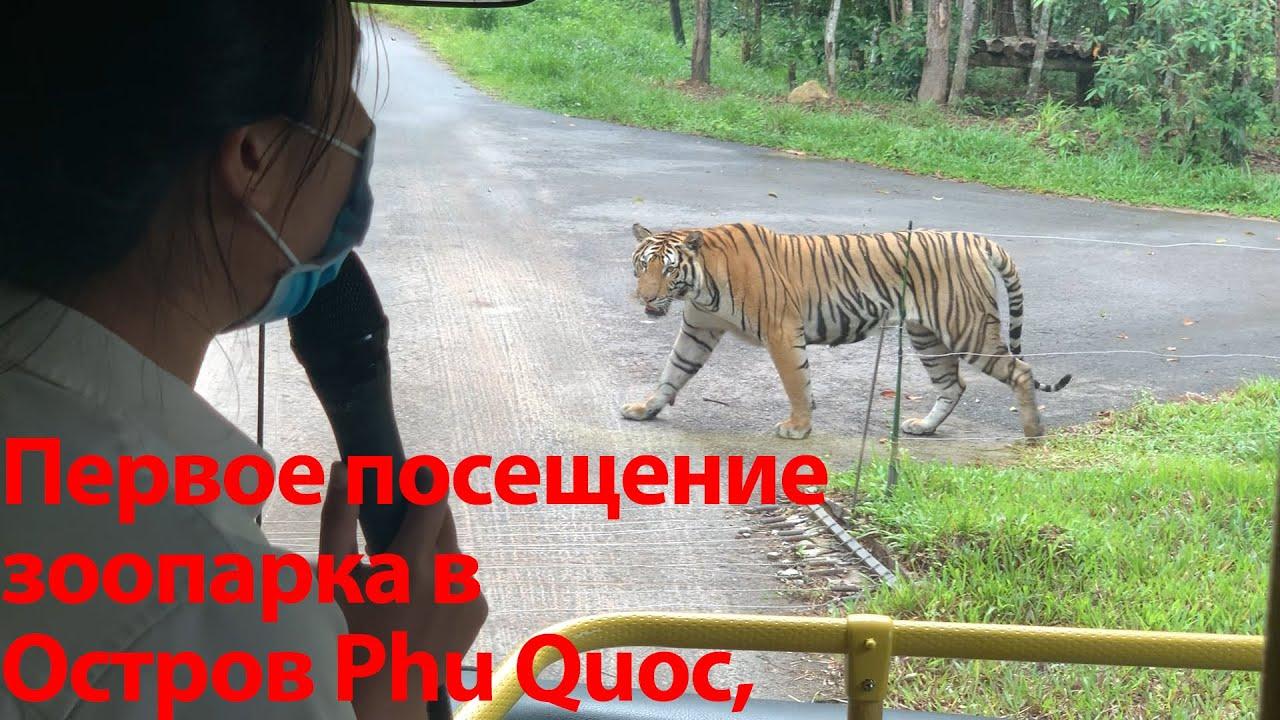 Первое посещение зоопарка в Vin Safari Остров Phu Quoc, Viet Nam