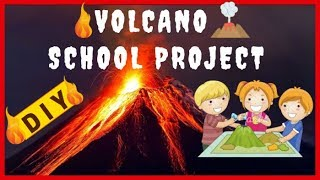 VOLCANO SCHOOL PROJECT ACTIVITY EASY DIY