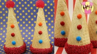CLOWN PARTY HAT PINATA CONES!  Great For A Carnival Or Circus Birthday Party Theme...surprise Inside