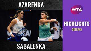 Aryna Sabalenka vs. Victoria Azarenka   2020 Ostrava Final