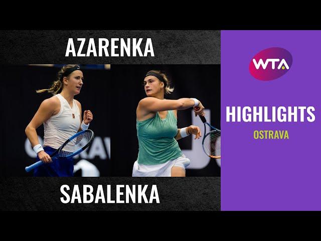 Aryna Sabalenka vs. Victoria Sabalenka | 2020 Ostrava Final | WTA Highlights