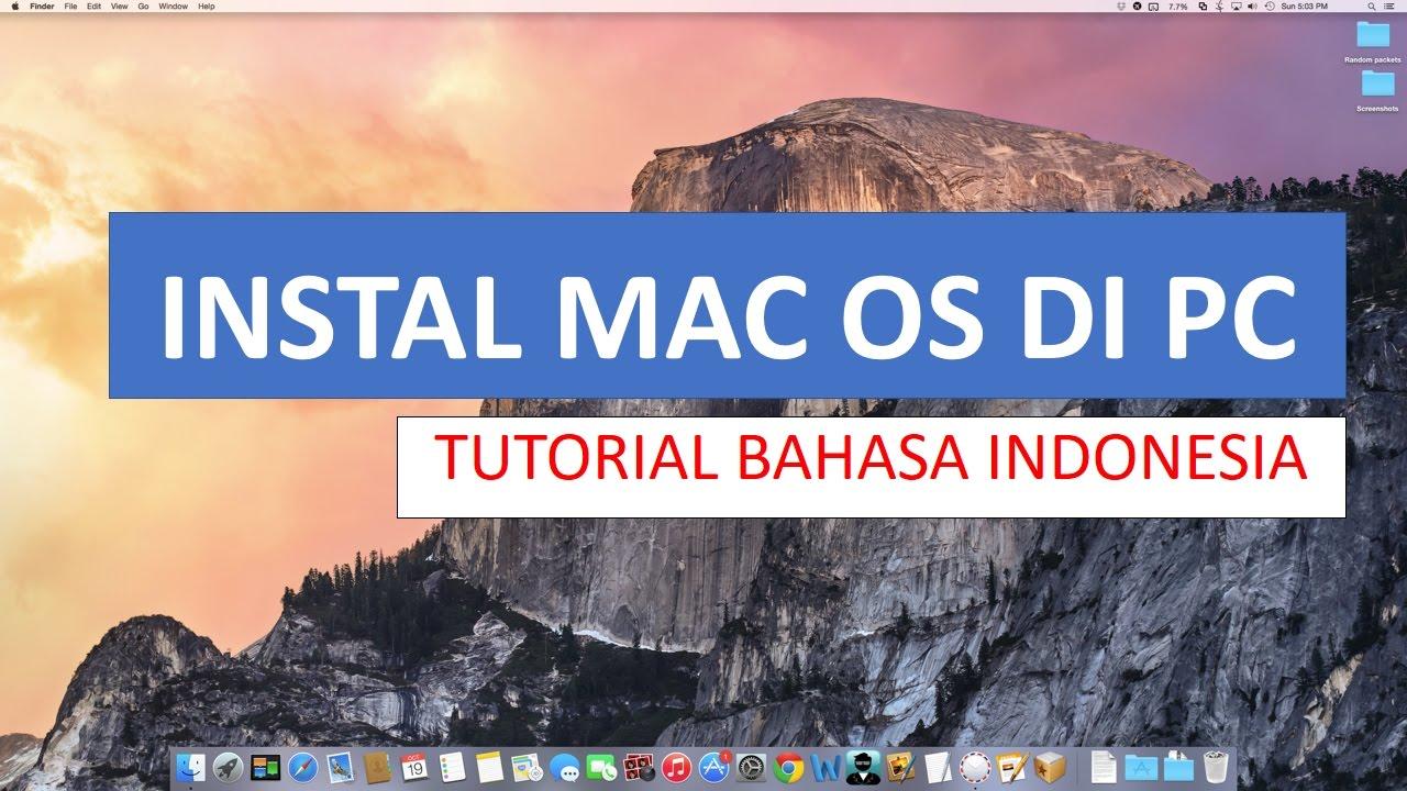 cara install mac os di windows 7