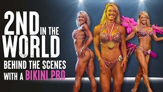 2ND in the WORLD! Behind the Scenes with a Bikini Pro | Holly T. Baxter | WBFF Worlds Las Vegas 2021