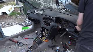 Peugeot 607 Dashboard Removal