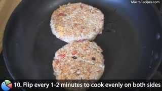 High Protein Tuna Burger Recipe