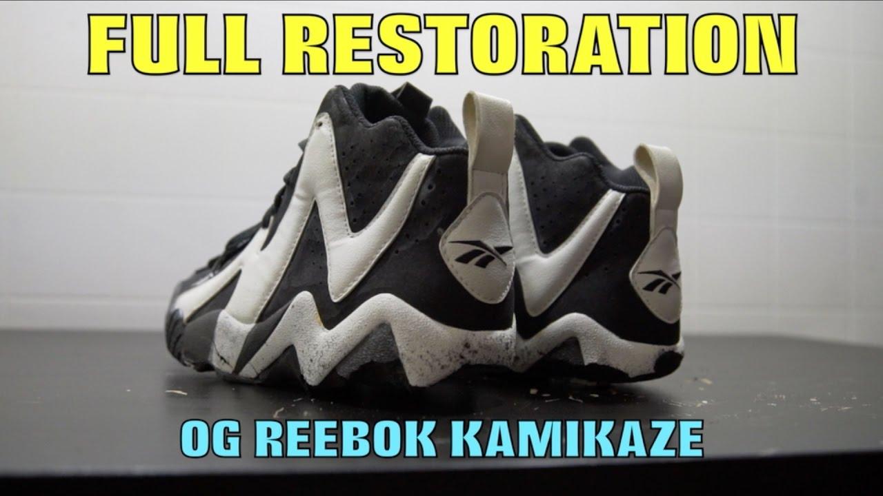 8d676fa5e8cc03 OG REEBOK KAMIKAZE FULL RESTORATION!! - YouTube