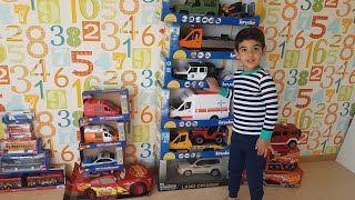 Unboxing Many Cars boxes, Bruder Cars Disney Cars with Dlan