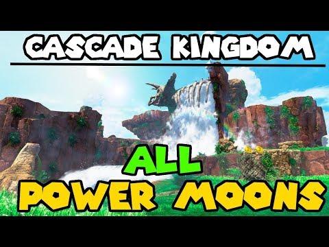 Super Mario Odyssey - Cascade Kingdom All Power Moons