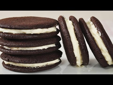 Chocolate Cream Cookies Recipe Demonstration - Joyofbaking.com