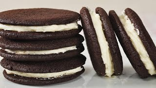 Chocolate Cream Cookies Recipe Demonstration