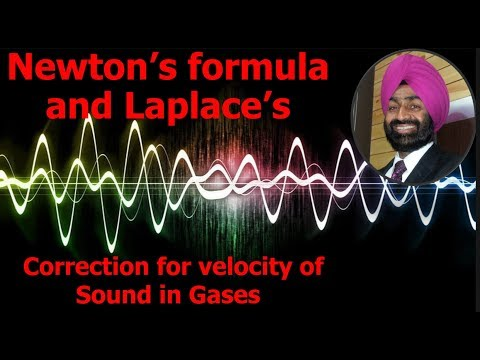 Waves 10+1 Newton's formula and Laplace's Correction