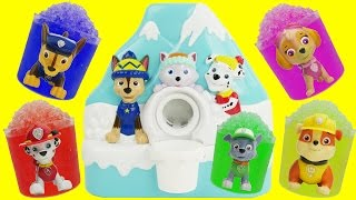 Paw patrol make shaved ice cones