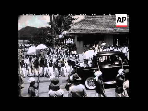 ROYAL TOUR.  QUEEN IN CEYLON