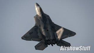 F-22 Raptor Demo - No Music! - Airpower Hampton Roads 2018