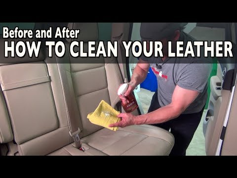 How To Clean Your Leather Seats with Lexol on Everyman Driver