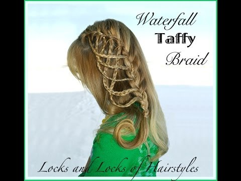 Braided Hairstyles: Waterfall Taffy French Braid