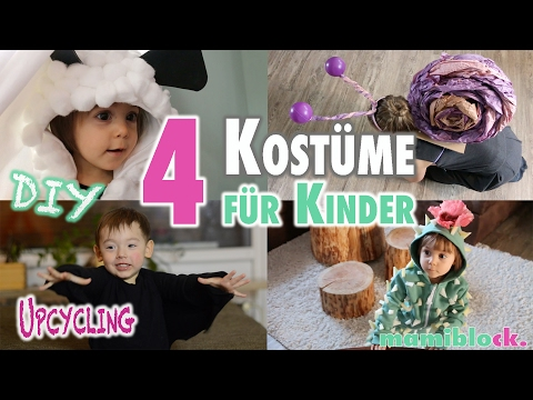 4 Kostüme Für Kinder Ohne Nähen   DIY   Upcycling   Mamiblock