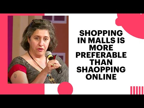 Shopping in Malls is more preferable than shaopping online