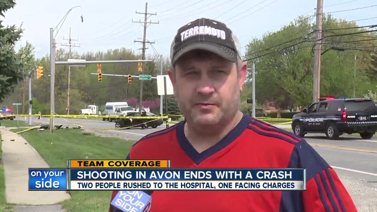 Shooting at Avon workplace leads to car crash